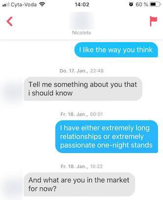 Tinder - Polarisiere mit deiner Antwort