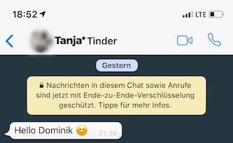 Tinder Tipps - Telefonnummer Whatsapp 2