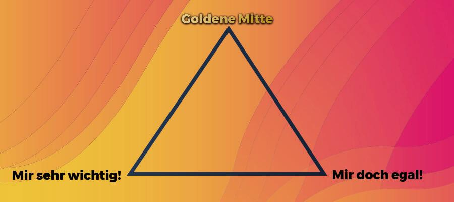 Finde deine goldene Mitte