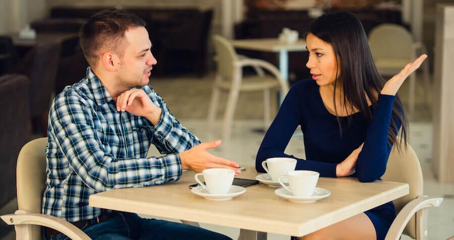 Ein Café ist nicht der richtige Ort zum schluss machen